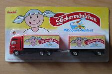 Modellino autocarro per birra Rimorchio trasporto MAN frischli Leckermäulchen HS