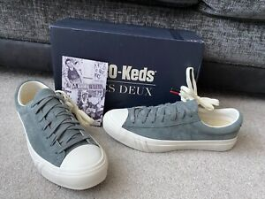 Pro Keds Royal plus LD Grey leather suede trainers, UK size 9.5 M, EUR 44