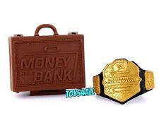 WWE Mattel Elite Figure Accessory Lot Money in the Bank Briefcase & US Belt_s118