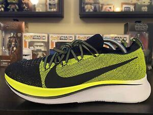 Nike Zoom Fly Flyknit Men's Running Shoes Size 9.5 NEW Black Volt Run Running
