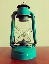 Vintage kerosine lantern, lamp in blue