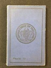 1928 Irish Freemasons' Calendar & Directory, Masonic Grand Lodge of Ireland