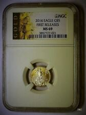 2014 EAGLE G$5 FIRST RELEASE 1/10 OZ. NGC 3857727-021