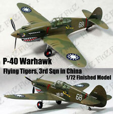 WWII P-40 Warhawk Flying Tigers 3rd Sqn in China 1/72 finished plane Easy model