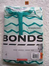 Baby Boy's Bonds Green Zip Wondersuit/coverall/sleeper Size 00