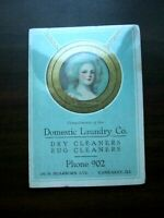Vtg Domestic Laundry Co. Kankakee, IL Advertising Sewing Needle Kit Dry Cleaning
