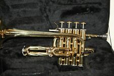 Piccolo Brass Bb Trumpet with Hard Case. Just Cleaned and Serviced