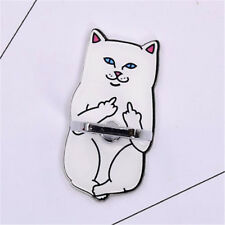 Finger Grip 360° Rotating Ring Stand Acrylic Middle Finger Up Cat Mobile Phone