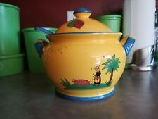 The Haldon Group Soleil MCMLXXX Soup Lid Tureen Ladle Yellow and Blue BEAUTIFUL