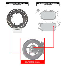 BREMBO REAR DISC (+ BRAKE PADS) - YAMAHA YZF R6 (03-05) - 68B40750