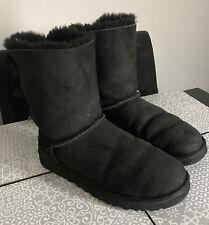 Nice Black UGG Australia Bailey Bow II Boots Size 5.5 VGC