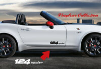 124 SPIDER SIDE STICKER VINILO PEGATINA FIAT ADESIVI AUFKLEBER DECAL