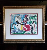 Pablo Picasso Framed Beautiful Original Mourlot Lithograph 1961 Toros y Toreros