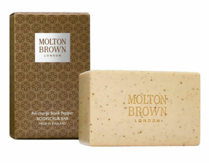 New Molton Brown Re-charge Black Pepper BodyScrub Bar 250g Free UK Delivery