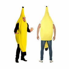 Banana Costume Man One Size Adult Complete Outfit Party Theater Funny Novelty