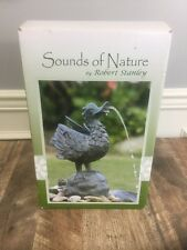 Robert Stanley Bird Duck Water Feature Fountain Garden Decor Yard Statue 13""