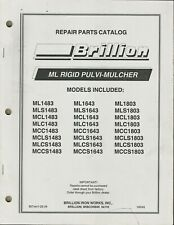 Brillion Ml Rigid Pulvi Mulcher Model Ml1483 Ml1643 Ml1803 Tractor Parts Catalog