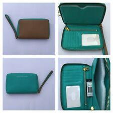 Marc by Marc Jacobs Blue Almond Brown Wingman iPhone 5 SE Wallet Clutch Wristlet