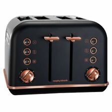 Morphy Richards Accents 4 Slice Toaster - Black