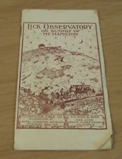 """1890's ADVERTISING Guide to """"LICK OBSERVATORY"""" Mt. Hamilton STAGE CO~San Jose CA"""