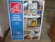 Step2 Step 2 Little Cooks Kitchen stove sink oven refridgerator toy NEW dishes