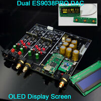 DUAL ES9038PRO DSD DAC OLED Display ES9038 HIFI DAC USB Bluetooth5.0 APTX Player