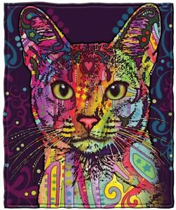 Dawhud Direct Confident Cat Fleece Throw Blanket by Dean Russo