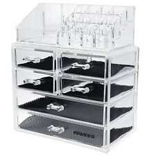 Make up Organizer ISWEES Large Capacity 5MM Clear Acrylic Cosmetic/Mak... NO TAX