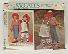 McCall's Sewing Pattern 5254 Raggedy Ann Andy Size 6-8 Misses' Men's Boy Girl UC