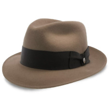 SALE Stetson Camel Color Wool Fedora Made in Texas, Leather Sweat Band