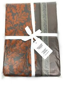 "Williams Sonoma Acorn Harvest Jacquard Tablecloth 70"" x 108"" Charcoal"