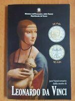 Coincard  1  +  2 Euro Da Vinci  Italien 2019   Gedenkmünze im Blister