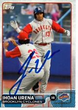 Jhoan Urena Brooklyn Cyclones 2015 Topps Pro Debut Signed Card