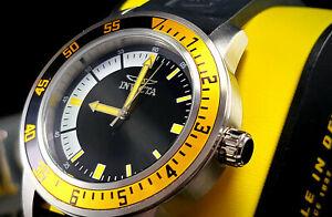 INVICTA Men's SPECIALTY 2 Tone Black & Yellow Polyurethane Strap 45mm Watch New