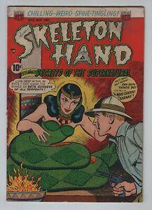Pre-Code ACG 1952 SKELETON HAND No. 2 VG 4.0 Snake Goddess Cover; Unholy Dead
