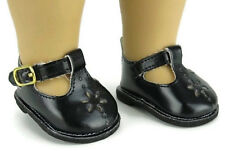 Black Mary Jane Shoes for 14.5 inch American Girl Wellie Wishers Dolls