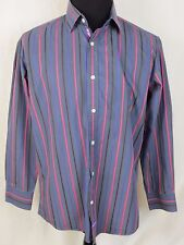 English Laundry Christopher Wicks Striped Long Sleeve Flip Cuff Shirt 16.5 34/35