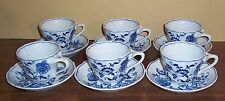 LOT OF 8  BLUE DANUBE BLUE ONION CUPS ANS SAUCERS BANNER MARK
