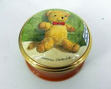 Halcyon Days Bilston & Battersea England Enamels Teddy Bear Trinket Box screw