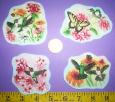 New! Cool! Hummingbird and Butterflies IRON-ONS FABRIC APPLIQUES IRON-ONS