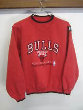 vtg Chicago Bulls Sweater Pullover red polycotton Logo Athletic sz L