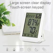 LED FT Digital Alarm Clock TouchScreen Calendar Humidity Hygrometer Thermometer/