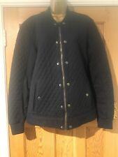 Zara Man Jacket Size XL EU 42 Navy Blue Quilt Diamond Pattern