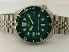SEIKO DIVER 7002-700A STUNNING GREEN FACE MOD AUTOMATIC MENS WATCH SN. 2N3519
