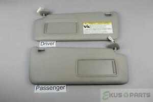 2001-2007 Toyota Highlander Sun Visor Set Pair Lighted Mirrors Extension Panels