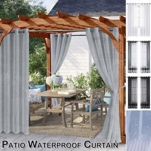 Waterproof Curtains Outdoor Pergola Patio Drapes Voile Tulle Yarn Screening