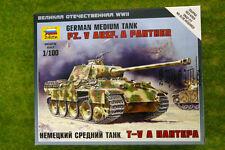 Zvezda Pz. V Ausf. A PANTHER GERMAN MEDIUM TANK 1/100 scale 6196