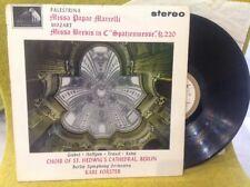 LP PALESTRINA / MOZART - Missa - Karl FOSTER - HMV ASD 569