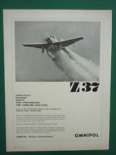 6/1965 PUB OMNIPOL Z-37 BUMBLE BEE AIRCRAFT / HUGHES LASER TANK RANGEFINDER AD