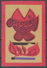 RUSSIA 1969 Matchbox Label - Cat.199K matt  Angler - amateur